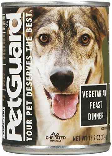 Petguard vegetarian fest dinner comida para perros 132 onzas
