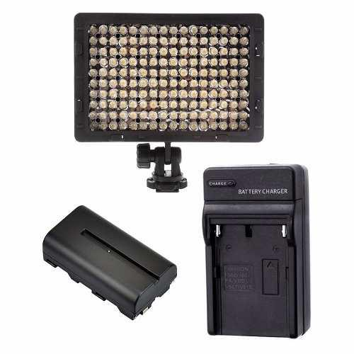 Reflector led bateria y cargador para fotografia video luz