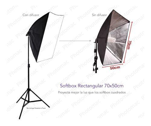 Softbox 70x50 y socket para 1 foco foto o video