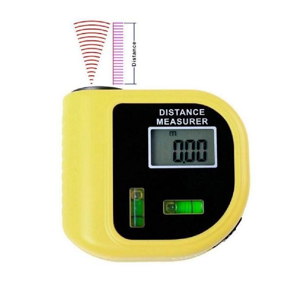 Wincha medidor de distancia por ultra sonido con láser.
