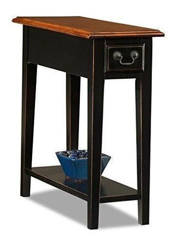 Leick chair side end table slate finish