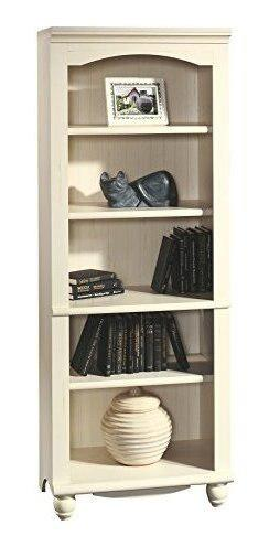 Sauder 158085 harbour view library antiqued white finish