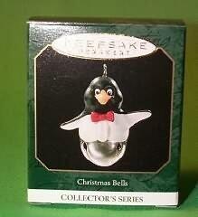 Sello de 1999 navidad campanas miniatura tarjeta ornamento