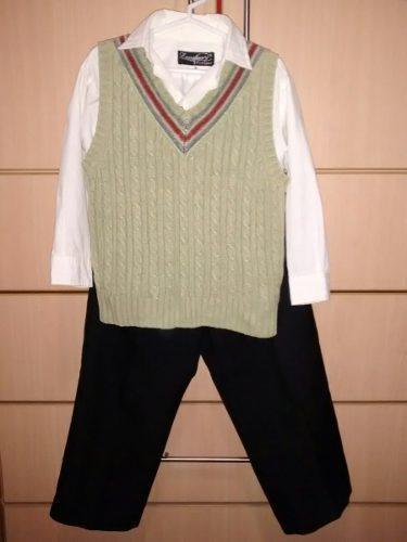 Terno niño 3 años camisa chaleco pantalon de vestir usados