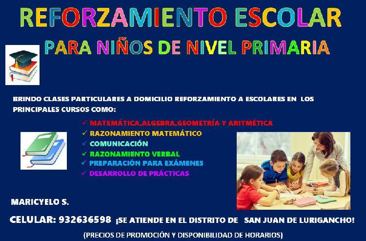 Clases particulares matemática comunicación-niños de