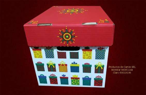 Cajas navideñas de carton en lima