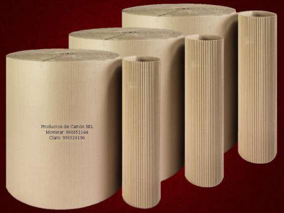 Carton corrugado rollos de 50 kilos en lima