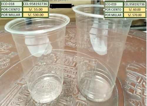 Envases y vasos biodegradables