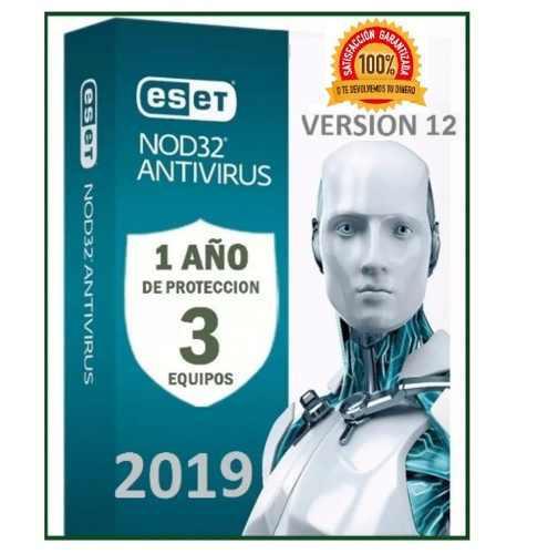 Eset nod32 antivirus 1 año una licencia original (3pc) 2019