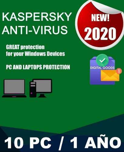 Kaspersky antivirus licencia digital 10 pcs - 1 año