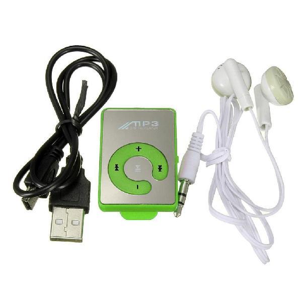 Mini reproductor mp3 con audífonos y cable usb