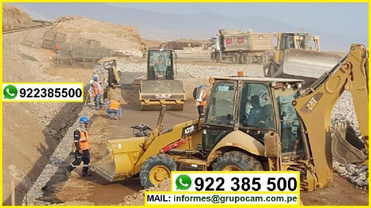 Movimiento de tierras, construccion de obras civiles y