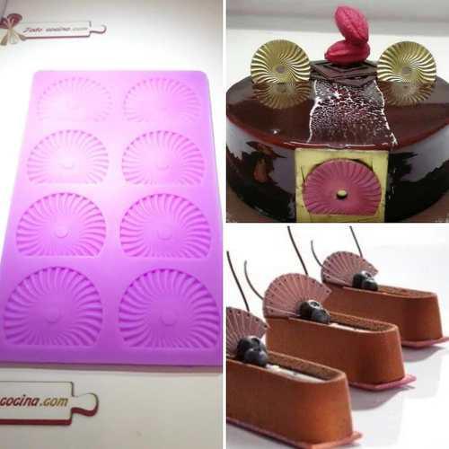 Molde para abanicos de chocolate