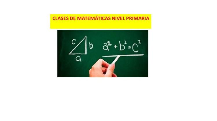 Se dicta clases de matemáticas nivel primaria