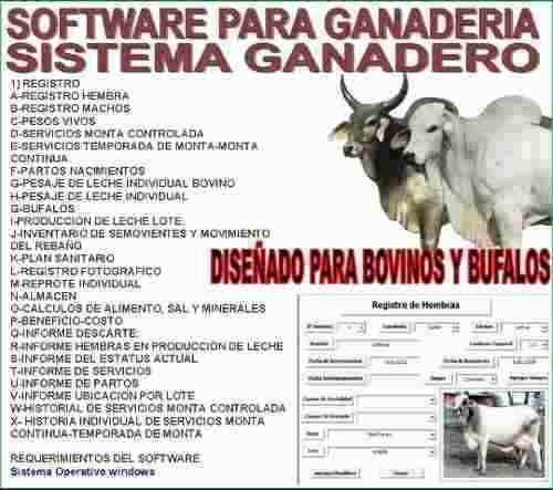 Software Administrativo Para Ganaderia. Jjj