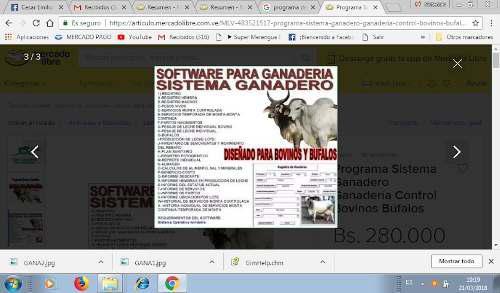 Software Administrativo Para Ganaderia. X