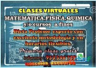 Profesor de matemática , física y química línea (virtual) aprendizaje garantizado cel 953546752