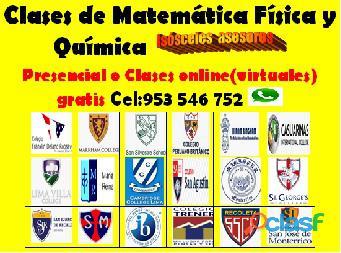 Profesor de Matemática , Física y Química línea (virtual) aprendizaje garantizado cel 953546752 5
