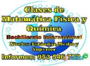 Profesor de Matemática , Física y Química línea (virtual) aprendizaje garantizado cel 953546752 3