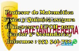 Profesor de Matemática , Física y Química línea (virtual) aprendizaje garantizado cel 953546752 2
