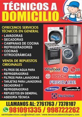 A domicilio!!! profesionales de lavadoras ge -2761763 en