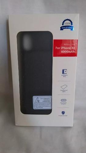 Case Batería Cargador Iphonexr 6000 Mah Negro Boleta