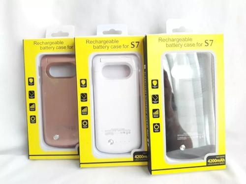 Case Batería Cargador S7 4200mah Negro Blanco Rosa Garantia