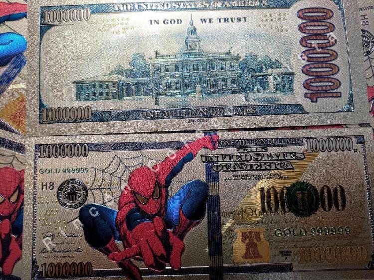 Billetes de colección - spiderman