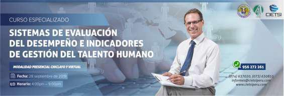 Curso sistemas de evaluación del desempeño e indicadores