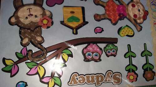 Decoraciones fiestas infantiles 3d pared- 60x4ocm (plancha)