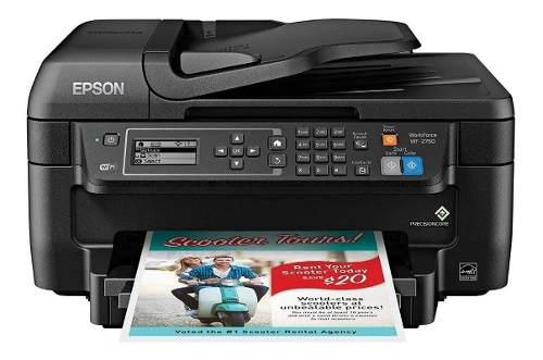 Impresora epson a color inalambrica scan copia fax wf-2750