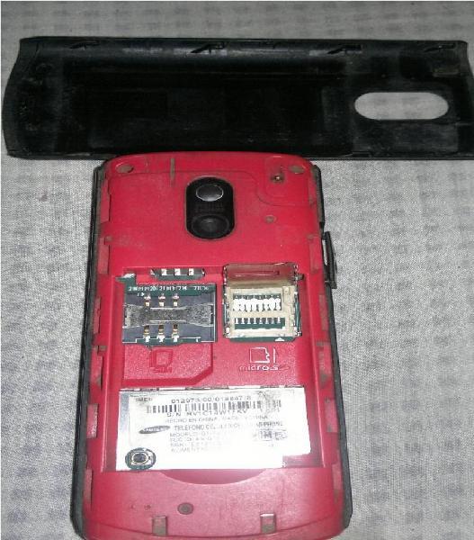 Samsung basico con mp3 con detalle celular clasico no nokia