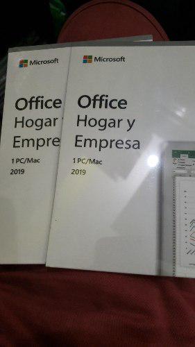 Licencia de microsoft office hogar y empresas 2019 fisico