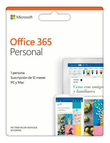 Licencia microsoft office 365 personal - annual - original
