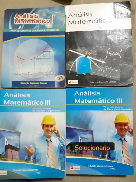 Analisis matemático i, ii y iii