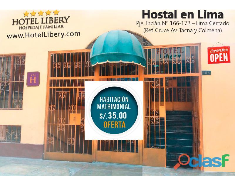 Hotel libery – alojamiento en lima