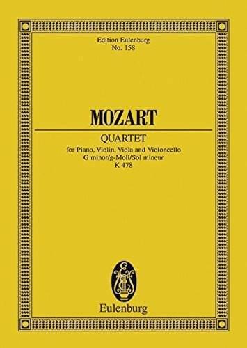 Cuarteto de piano k 478 para piano violin viola y violonchel