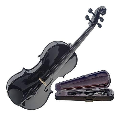 Precioso violin negro 4/4 el mejor sonido marca heffler peru