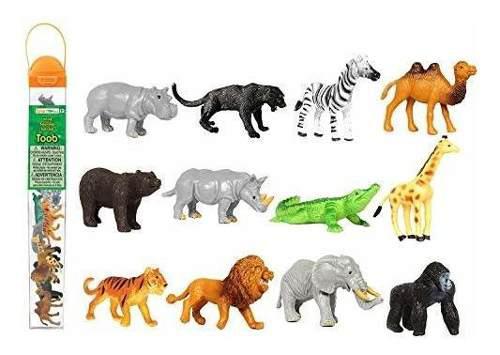 Safari ltd toob salvaje con 12 grandes amigos de la jungla,