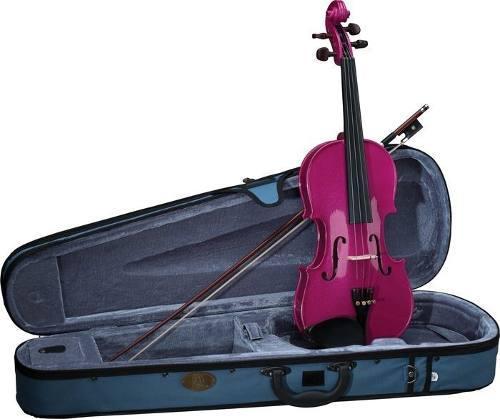 Violin 4/4 de madera colores lila violeta morado