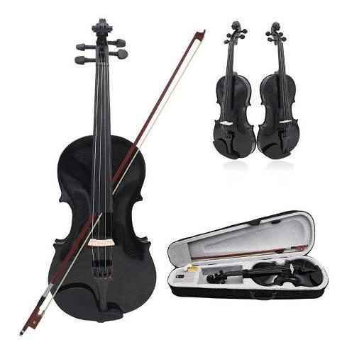 Violin negro 4/4 - adultos y niños principiantes
