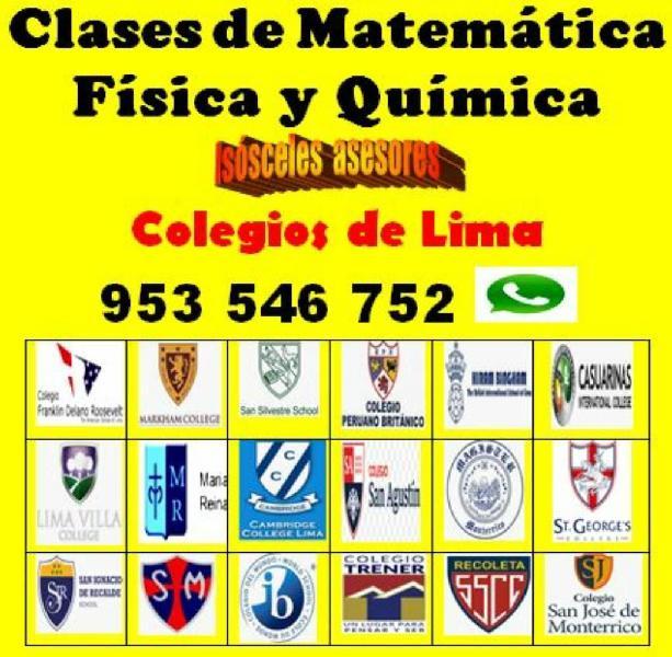 Matemática química física a escolares