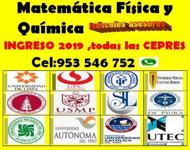 Matemática y ciencias preuniversitarios