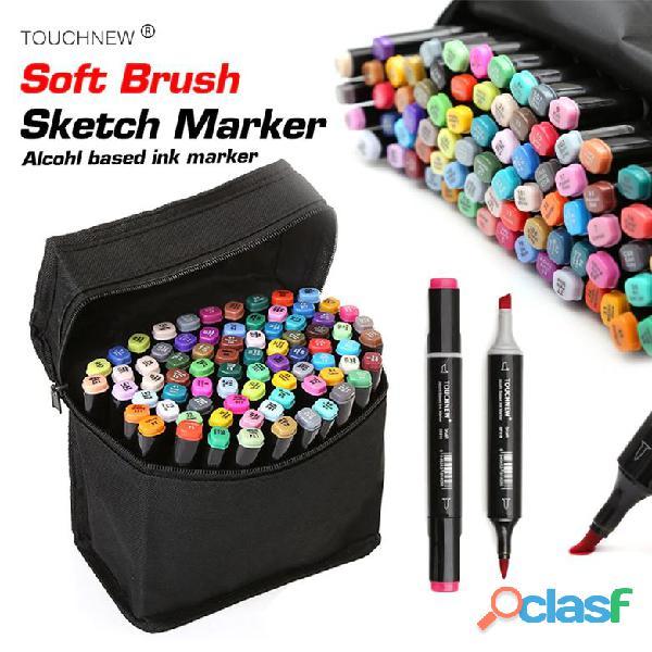 Set de 80 marcadores TouchNew punta pincel Brush a 520 soles (anime, Arquitectura, Diseño) 2