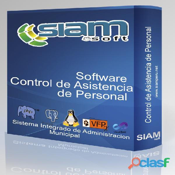 Software control de asistencia de personal