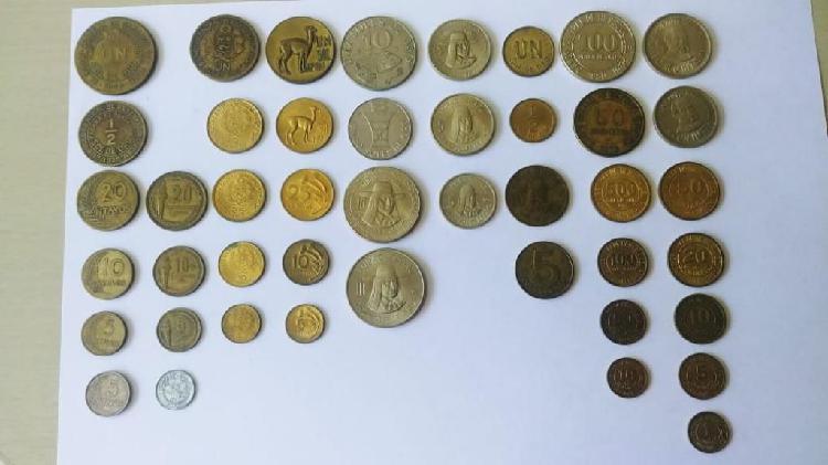 Monedas y billetes antiguos del peru