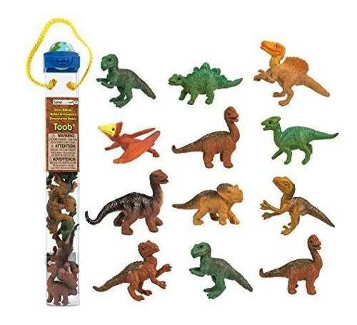 Safari ltd dino bebes toob con 10 dinosaurios que incluyen b