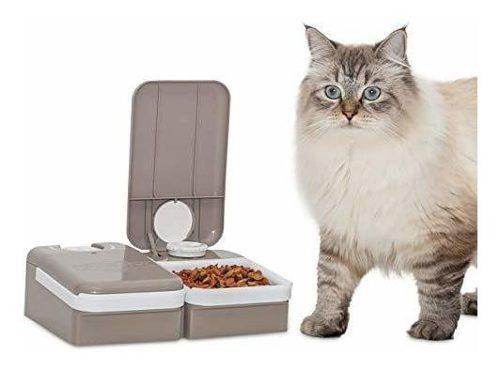 Alimentador automatico para perros y gatos de 2 comidas, seg