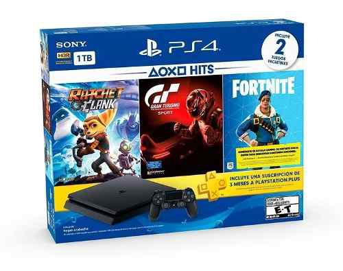 Playstation ps4 1tb family bundle+2 juegos+ 3 meses ps plus