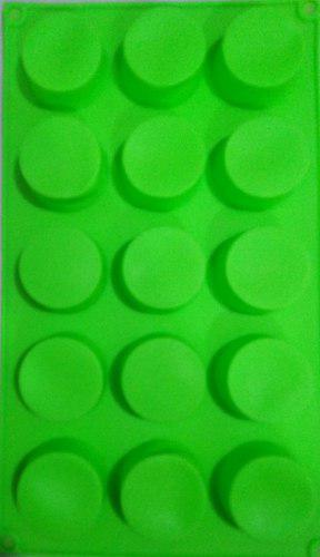 Moldes de silicona para jabones 15 redondos